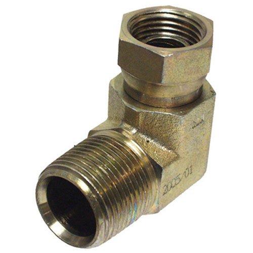 "Apache 39005150 1/2"" Male Pipe x 3/8"" Female Pipe Swivel 90° Hydraulic Adapter (Style 1501)"