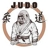 Adesivo murale Scimmia arti marziali in abito judo animale motivo di attaccare