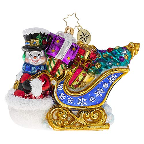 Christopher Radko Hand-Crafted European Glass Christmas Ornament, He Knows The Way by Sleigh