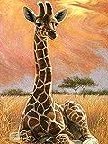 5D DIY Diamante Ricamo Animale Giraffa Kit Punto Croce Strass Artista Decorazione Della Casa Pittura Diamante A12 50x70cm
