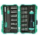 WAIY Schraubensatz von 57 Stück, multifunktionale Elektriker Handy Brille Wartung Batch-Head Werkzeuge, Werkzeuge Rostbehandlung, ergonomisches Design, stark und langlebig