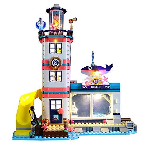 QZPM Licht-Set Für (Friends Leuchtturm Mit Flutlicht) Modell - LED Licht-Set Kompatibel Mit Lego 41380(Modell Nicht Enthalten)