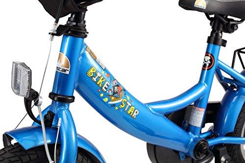 BIKESTAR Kinderfahrrad für Mädchen und Jungen ab 3-4 Jahre | 12 Zoll Kinderrad Classic | Fahrrad für Kinder Blau - 5