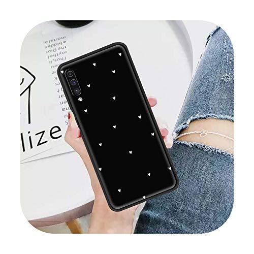 Funda para Samsung Galaxy A50 A10 A20e A70 A30 A40 A20s A10e Fundas Negro Suave Teléfono Bolsas Sac-B09-para Samsung A80