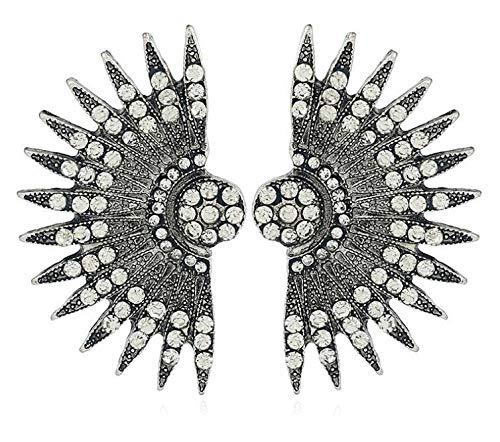 ZeroShop 1920s accessories Headband Earrings Necklace Gloves Cigarette Holder (Medium, M15)