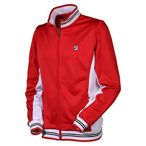 FILA Herren, Ole Functional Trainingsjacke Rot, Weiß, XXL Jacken