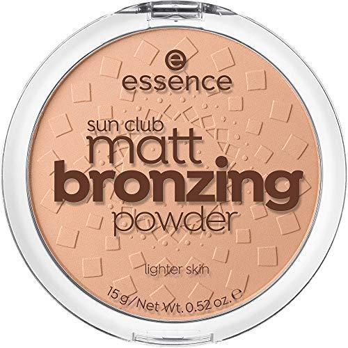 essence sun club matt bronzing powder, Puder, Nr. 01 natural, nude, für Mischhaut, für trockene Haut, für unreine Haut, mattierend, matt, vegan, Nanopartikel frei, ölfrei (15g)