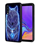 Galaxy A20 Case, Galaxy A30 Case, Slim Impact Resistant Shock-Absorption Rubber Protective Case Cover for Samsung Galaxy A20 / A30 (2019) - Glowing Wolf