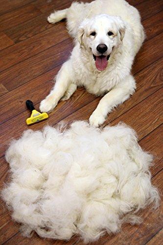 FURminator deShedding Hunde-Pflegewerkzeug zur Fellpflege – Hundebürste in Größe L zur gründlichen Entfernung von Unterwolle und losen Haaren – für langhaarige Hunde - 5