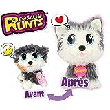Rescue Runts - Peluche de Husky para niños, Juguete Veterinario, Gris, Blanco, a Partir de 3 años