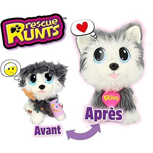 Rescue Runts - Peluche de Husky para niños, Juguete Veterinario, Gris, Blanco, a Partir...