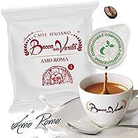 Caffè Italiano Bocca Della Verità Cialde AMO ROMA - de 150 cápsulas - compatible ESE dm 44 mm