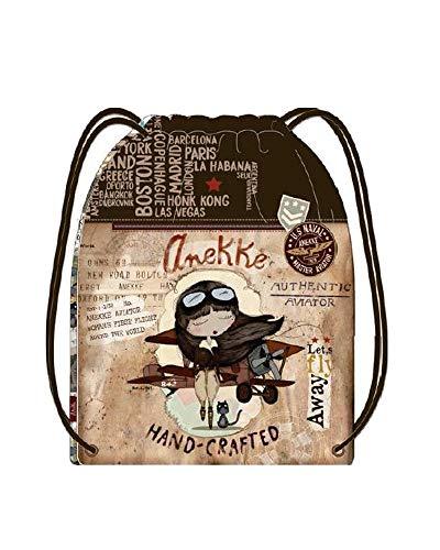 Anekke - Bolso mochila para mujer Multicolor multicolor M