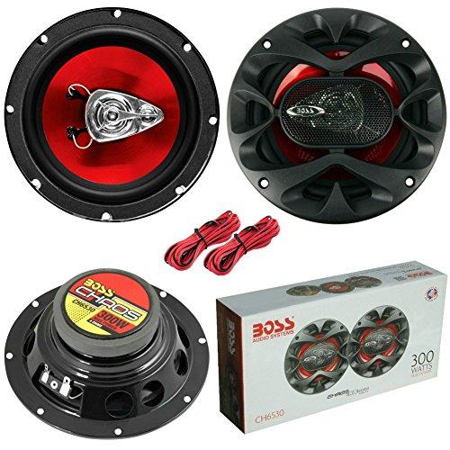 2 BOSS AUDIO SYSTEM CH6530 CH 6530 altoparlanti coassiali a 3 vie da 16,50 cm 165 mm 6.5  da 150 watt rms 300 watt max per alloggiamenti standard auto, a coppia