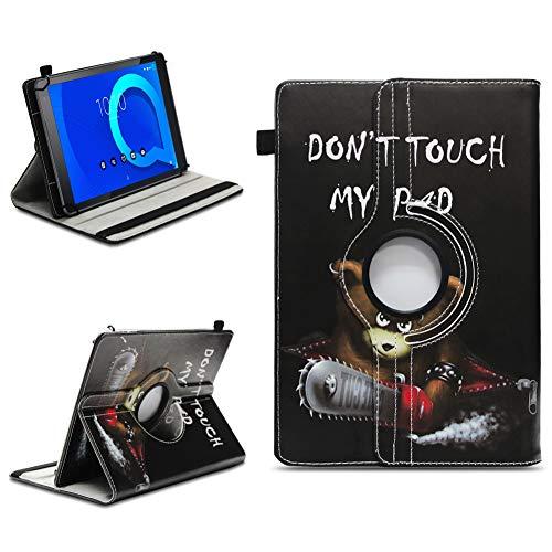 NAUC Tablet Schutzhülle kompatibel für Alcatel 1T 10 Hülle Tasche aus Kunstleder Standfunktion 360° Drehbar Cover Universal Hülle, Farben:Motiv 12
