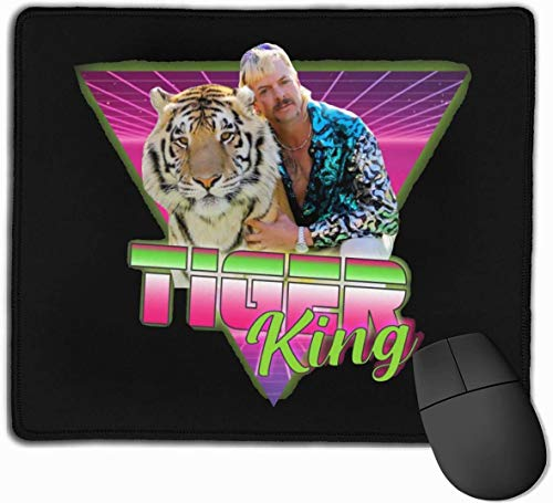 The Tiger King Joe Exotic Gaming Mouse Pad,Non-Slip Water-Resistant Rubber Base Horizontal Computer Mouse Mat for Gamer Office and Home 10 x 12Inch(25x30cm)