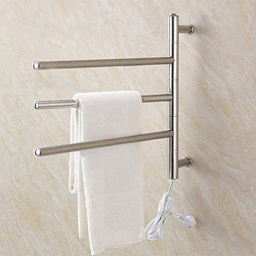XIAOWANG Handdoekwarmer wasrek handdoek- elektrische handdoekwarmer voor wandmontage, 180° draaibare elektrische…