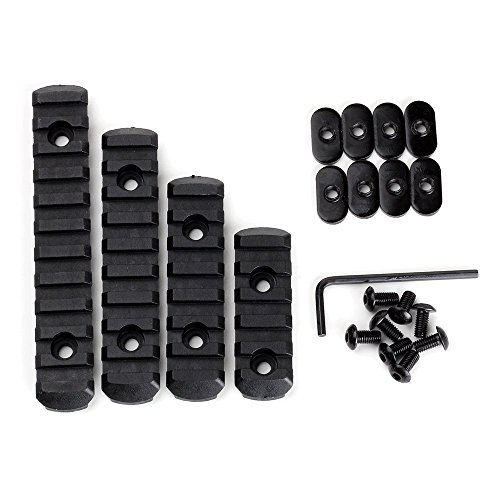 loglife 4pcsrail-BK1 Polymer Rail Section Kit for MOE Handguard L5 L4 L3 L2 Sizes (BK)