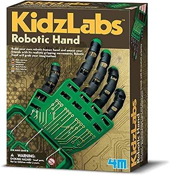 4M Kidzlabs Robotic Hand Kit - DIY Mechanical Robot Science - STEM Toys Educational Gift for Kids & Teens Girls & Boys Multi  3774