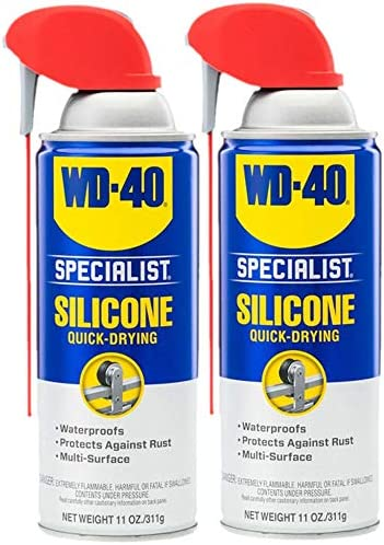 WD 40 Specialist Silicone Lubricant with Smart Straw Sprays 2 Ways Twin Pack 11 OZ product image