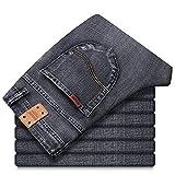 Jeans Pantaloni Jeans Elasticizzati da Uomo Jeans Casual da Lavoro Stile Classico alla Moda Pantaloni in Denim Pantaloni Uomo Jean Abbigliamento 33 Grigio Scuro