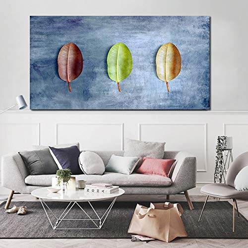 N / A Pflanze Kleeblatt Bild Wand Poster Stil Leinwand Druck Gang Wohnzimmer Einzigartige Dekoration Rahmenlos 40x70cm