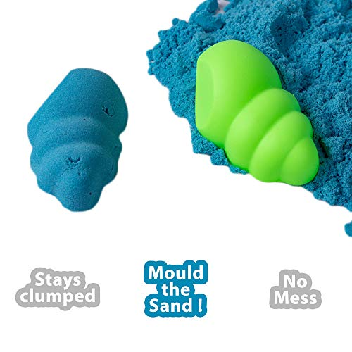 RATNA'S Wonder Sand 500 Grams for Play. Smooth Sand for Kids (Blue 500 Grams), ONE Big Mould Inside (Without Tray) 6