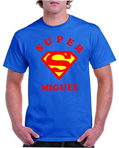 Camisetas divertidas Child Super Miguel - para Hombre Camisetas Talla XL Color Azul Royal