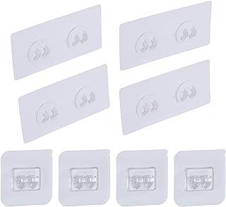 Laigoo 4 Pcs Adhesive Hook Sticker/Wall Hook for Banthroom Shelf Corner Shower Caddy