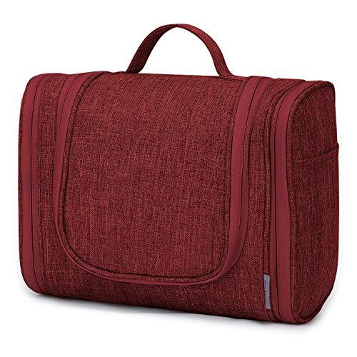 Wind Took Kulturbeutel Große Kulturtasche zum aufhängen Kosmetiktasche Waschbeutel Koffer Waschtasche Reise Toilettentasche Schminktasche Tasche für Makeup für Herren Damen Jungen Teenager(Rot)