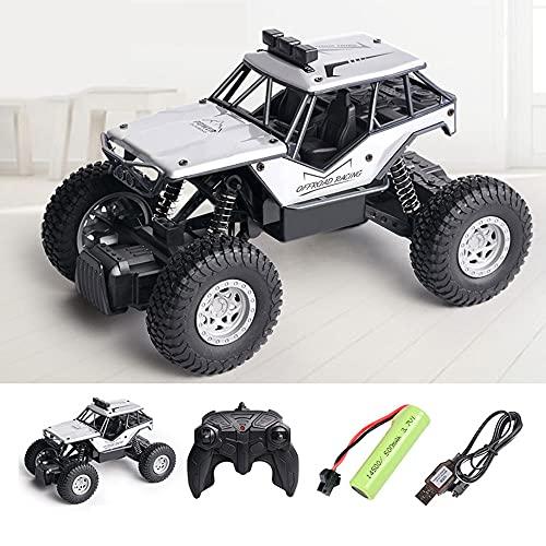 WZRYBHSD - Coche teledirigido eléctrico con vehículo todoterreno de aleación ligera 2,4 G, absorción de impactos, coche de escalada, juguete interior y exterior, velocidad para niños