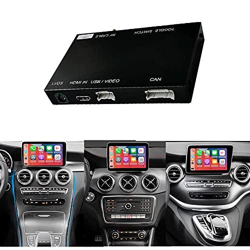 Road Top Decodificador de Kit de reequipamiento, con Funciones inalámbricas Apple carplay, Android Auto y Espejo, Adecuado para automóviles de Mercedes-Benz GLC C V A B Class W205 W246 2015-2018 Año