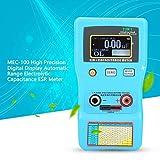 BEVANNJJ ZYY LCR Medidor Digital, MEC-100 de Alta precisión Rango automático electrolítico capacitancia ESR medidor con Pantalla LCD multímetro medición de Prueba