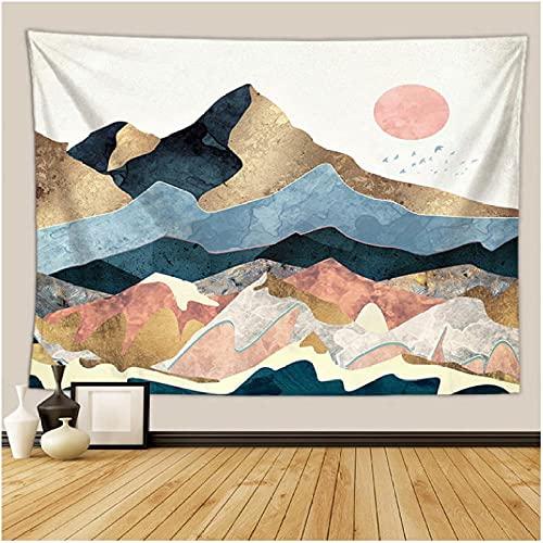 colgar en la pared tapiz psicodélico bohemio colorido tapiz hippie misterioso y estético para dormitorio sala de estar decoración de pared tapiz artístico Decoración de Halloween-150x200cm