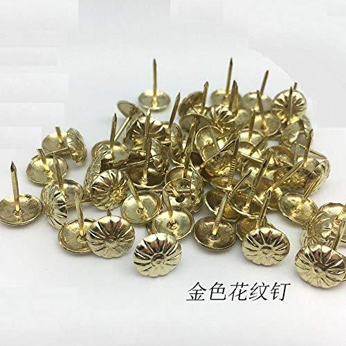 Trommelnägel, Blumennägel, Blasennägel, alle Kupferblasennägel, verlängerte Stecknadeln, dekorative Nägel-Grüne Patina mit einem Durchmesser von 11 * 17 mm (100 Stück)