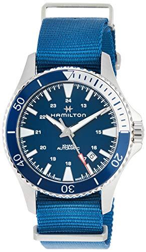 Hamilton H82345941 Khaki Navy Scuba Auto Men's Watch Blue NATO Nylon Band