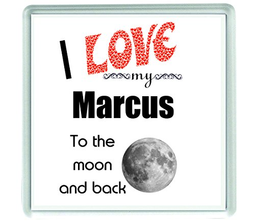 10534 I love my Marcus to the moon and back Getränkeuntersetzer aus Acryl
