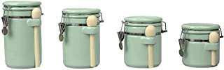 Home Basics (Mint) 4PC Ceramic Canister Set W/Spoon