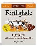 Forthglade Natural Grain Free Complete Wet Dog Food Turkey, Sweet Potato & Veg 395 g (Pack of 18)