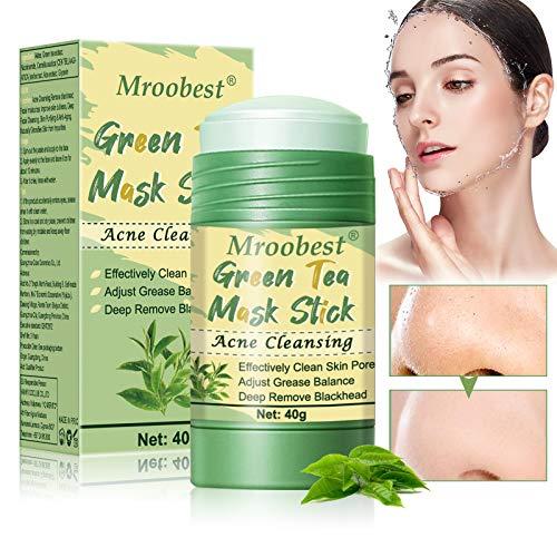 Mascarilla Limpiadora, Deep Cleansing Mask, Green Tea Mask Stick, Una mascarilla con ingredientes de té verde, Elimina eficazmente el acné, Purifica la piel, Mejora la sequedad de la piel