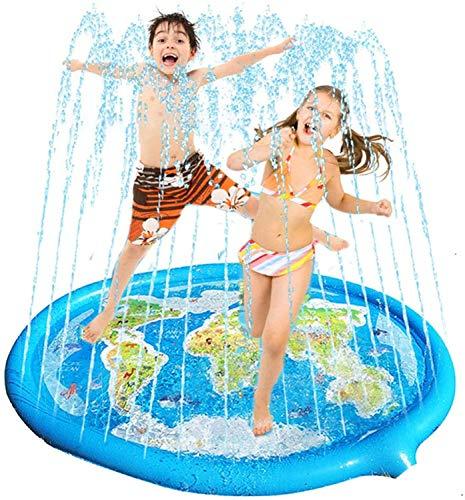 Juguete de 71 pulgadas de verano con mapas inflables para niños, juego al aire libre, estera de agua de pulverización, para playa, césped, piscina duradera