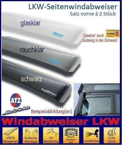 Farbausf/ührung rauchklar Beifahrert/ür 046070 Tuning-Pro Climair LKW-Windabweiser Fahrer u