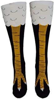 TheFound, Calcetines divertidos para piernas de pollo, hasta la rodilla, regalos divertidos