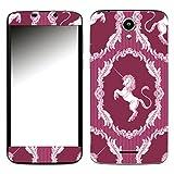 Disagu SF-107471_1130 Design Folie für Phicomm Clue 2S - Motiv klassisches Einhorn Streifenmuster pink