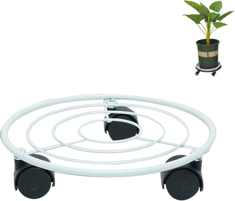Tall Plant Stands Max 60% OFF Wheels for 5 popular Indoor Round Plan Flower Pot Mover
