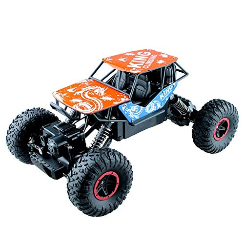 Moerc Carro de Control Remoto, 2.4GHz Radio Controlado Off Road RC Vehículo de Crawler 1/16 4WD High Speed ​​Fast Race Fash Hobby Buggy Indoor Outdoor Games Children Hobbies (Color : 3battery Packs)