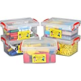 Really Good Stuff Small Clear Plastic Stackable Storage...