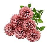 Tifuly Flores de Hortensia Artificial, 6 Piezas de crisantemo de Seda pequeña Bola de...