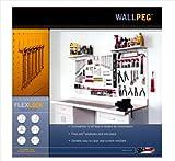 WallPeg 72' x 32' Garage Pegboard Kit - Plastic Pegboard Panels AM 24323W-2