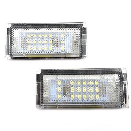 GZCRDZ Lot de 18 lampes de plaque d'immatriculation pour voiture Blanc 6000 K